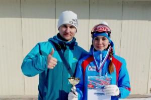 Валерия Газукина и тренер Александр Бабенко.