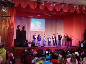 На церемонии награждения в Тальменке.