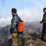 В Кольцово проводят профилактический пал травы