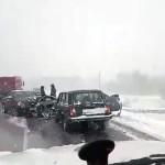 Вчера на трассе  Кольцово -Академгородок произошло тройное ДТП