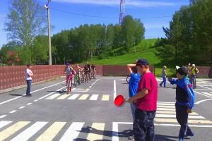Занятия на автодроме парка Кольцово.