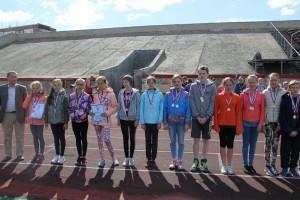 Сборная школы №5 на Президентских спортивных играх в Новосибирске.