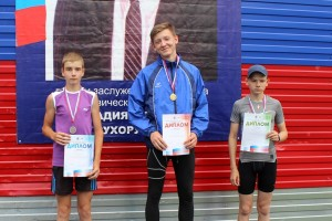 Данил Ананьев --золото призер соревнований.