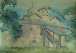 Церковь Жен-Мироносиц. После дождя.