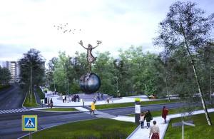 Скульптура появится на въезде в наукоград со стороны Академгородка.