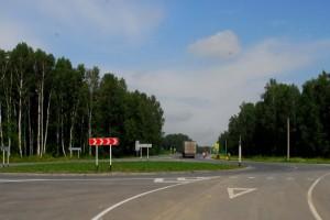 После капитального ремонта дороги в 2009 году.