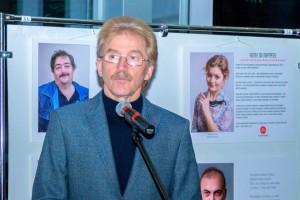 Николай Красников на открытии выставки в Доме ученых.