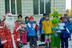 Победители новогодней лыжной гонки.