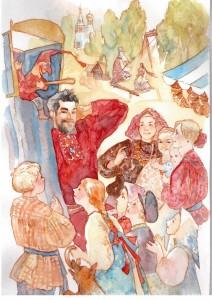 Иллюстрация О. Понкратьевой к сказке В. Асанова «Ярмарка».