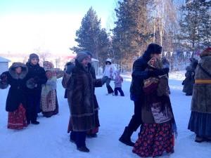 Рождественские гуляния в парке Кольцово.
