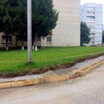 В Кольцово  взялись за тротуар у дома №9
