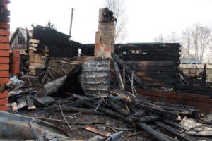 """Результаты пожара в СНТ """"Ветеран""""."""