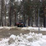 Снегоуборочная техника работает в Кольцово почти круглые сутки
