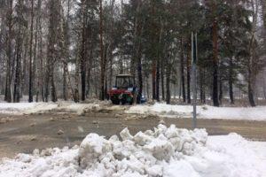 Уборка снега в Кольцово.