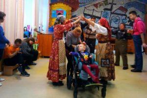 Масленица для детей-инвалидов.