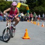 Дети Кольцово приняли участие в велогонках