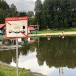 Купание на озере в парке Кольцово пока запрещено