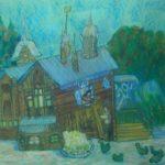 Работы юных художников из Кольцово представлены в Новосибирске